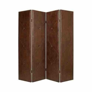 Copley Faux Leather Screen, 4 Panel, 76 Inch L x 84 Inch H Brand Screen Gems