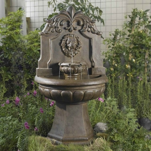 Copper Lion Head Outdoor/Indoor Water Fountain with 5 meter Cord Brand Zest