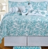 Cora Blue Cotton Oversized Queen Quilt in Blue Brand C&F