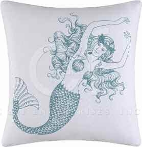 Cora Blue Mermaid Pillow 18 x18 Inches Brand C&F