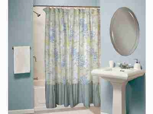 Coral Blue Shower Curtain, Cotton Polyester Shower Curtain Brand Greenland Home fashions