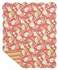 Coral Shells Quilt Handmade Throw / Lap Quilts Brand C&F