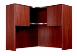 Corner Open Hutch, Mahogany 42x42x36H by Boss Chair