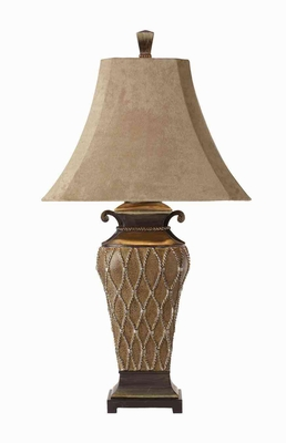 Cortina Table Lamp with Silver Champagne Accents Brand Uttermost