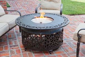 Cosenza LPG Fire Pit, Strong And Classic Versatile Heating Unit by Well Travel Living