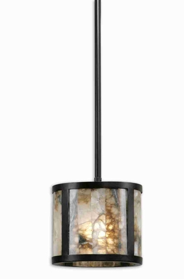 Coslada 1 Light Mini Pendant Lamp With Bronze and Marble Brand Uttermost