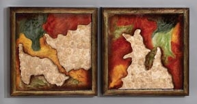 Cosmic Universe Metal Wall Art Decor Sculpture - Set of 2 Brand Woodland