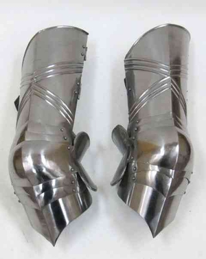 Costume Gothic Army Metal Leg Guard or High Greaves Brand IOTC