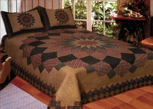 Cotton Filled Alexandra Dahlia Quilt in Queen Size by American Hometex