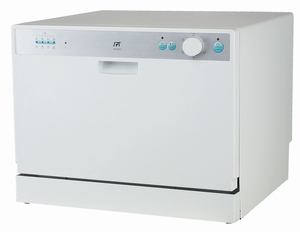 Countertop Dishwasher with Delay Start in White