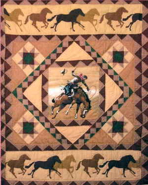 """Country Cowboy Quilt Throw Baby Lap Quilts 50""""X60"""" by American Hometex"""