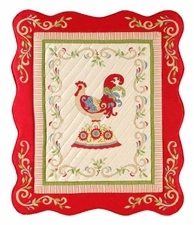 Country Woven Rooster Throw Blanket To Cover Your Warm Bed Brand C&F