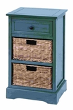 Countryside Life Style Basket Cabinet With 2 Wicker Baskets Brand Woodland