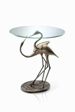 Courting Crane Pair Table An Unique Garden And Porch Accent Brand SPI-HOME