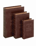 Coventry Attractive Wood Leather Book Box Set Brand Benzara