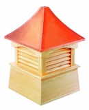 "Coventry Cupola 84"" x 123"" - Cypress Wood and Copper by Good Directions"