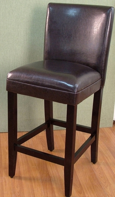 Coventry's Contemporary Styled Deluxe Brown Barstool by 4D Concepts