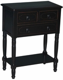 Coventry's Customary Styled Simplicity 3 Drawer Chest Black by 4D Concepts