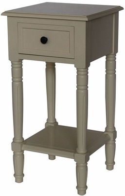 Coventry's Elegant Simplicity End Table Buttermilk by 4D Concepts