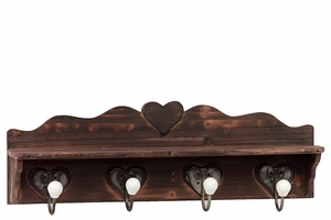 Coventry's Exclusive Wooden Wall Hook Distressed Brown