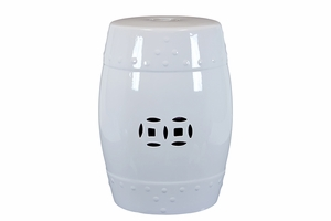 Coventry's Striking Ceramic Garden Stool White
