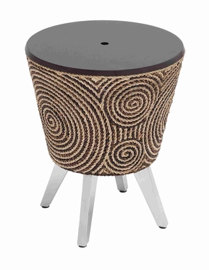 Cozy and Comfortable Ottoman with Unique Design in Black Base Brand Woodland