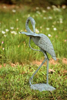 Crane Birdbath Brings Home The Beauty Of Coastal Activities Brand SPI-HOME