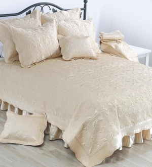 Creame Satin Bed Ruffle Bed Skirt King Brand C&F
