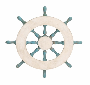 Creative Enchanting Styled Wood Ship Wheel by Woodland Import