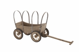 Creative Funky Styled Wood Metal Wagon Planter by Woodland Import