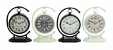 Creative Globe Styled Metal Desk Clock 4 Assorted by Woodland Import