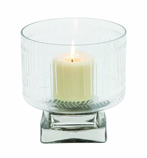 Creative Styled Attractive Glass Candle Holder by Woodland Import