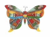 Creative Styled Attractive Metal Butterfly Plaque by Woodland Import