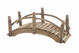 Creative Styled Attractive Wood Garden Bridge Planter by Woodland Import