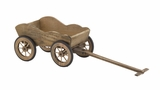 Creative Styled Exclusive Wood Wagon Planter by Woodland Import