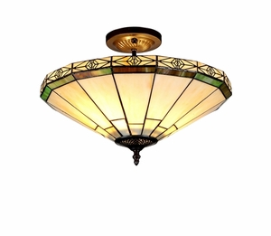 Creative Tiffany-Style Mission Semi-flush Ceiling Light by Chloe Lighting