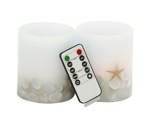 Creatively Styled Led Flameless Candle Remote Set by Woodland Import