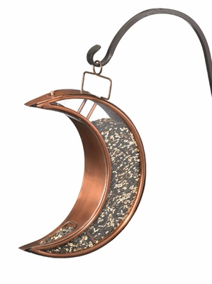 Crescent Moon Bird Feeder - Venetian Bronze by Good Directions