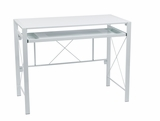 Creston Desk with White Frame and White Top by Office Star