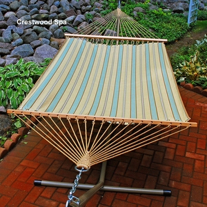 Crestwood Spa Stripe 11' Fabric Hammock by Alogma