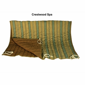 Crestwood Spa Stripe/Marlin Linen Tan Quilted Reversible Hammock Pad by Alogma