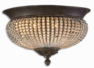 Cristal De Lisbon Flush Mount With Crystal Beads Brand Uttermost