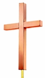 Cross Polished Copper Finial by Good Directions