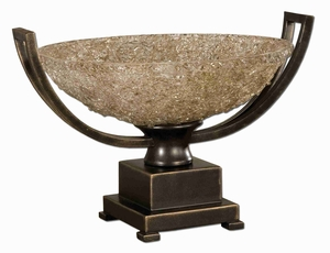 Crystal Palace Style Centerpiece Bowl With Hand Rubbed Bronze Brand Uttermost