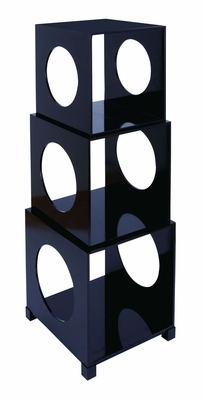 Cube Decor - Chic Stackable Storage Cube Set In Black Brand Woodland