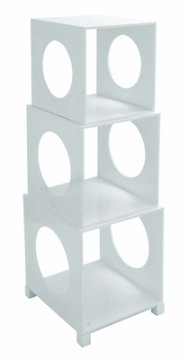 Cube Decor - Chic Stackable Storage Cube Set In White Brand Woodland