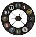 Cue Ball Accent Fancy Styled Fraser Clock by Cooper Classics