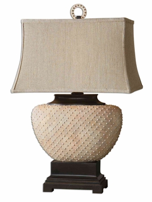 Cumberland Ceramic Table Lamp with Sandstone Finish Brand Uttermost