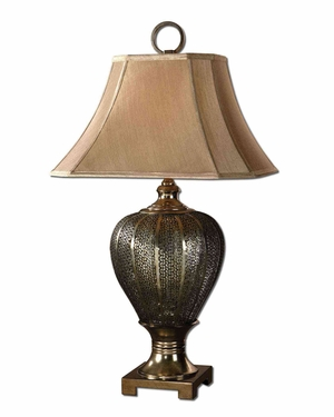 Cupello Metal Table Lamp with Metal Detailing Brand Uttermost