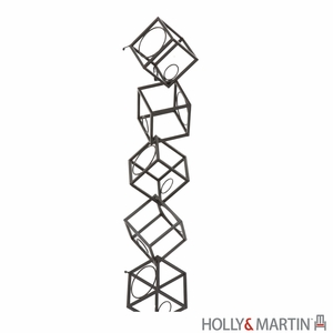 Curvy Cube Shaped Vallejo Wall Mount Wine Storage Unit by Southern Enterprises